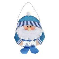 Сумочка для подарка дед мороз (голубой наряд)