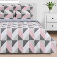 Постельное бельё «этель» 1.5 сп pink illusion 143*215 см, 150*214 см, 70*7