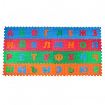 Детский коврик-пазл  алфавит 22*22см.*9мм шор 45