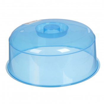 Крышка для  свч-печи 24 см, цвет синий