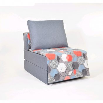 Кресло-кровать «харви» с накидкой-матрасиком, размер 75 x 100 см, серый, г