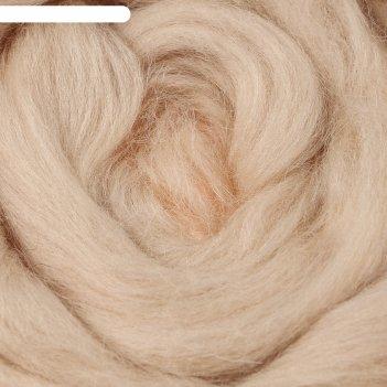 Шерсть для валяния 100% полутонкая шерсть 50 гр (192 чайн. роза)