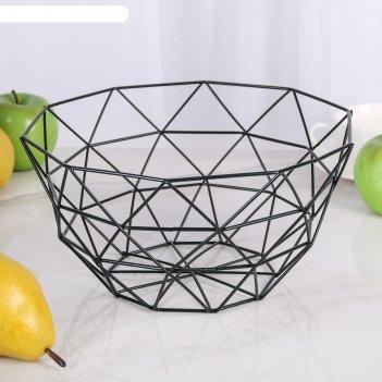 Ваза для фруктов 27x27x14 см геометрия, цвет микс