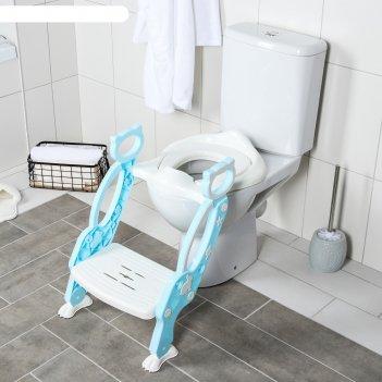 Сиденье на унитаз кошечка, цвет голубой