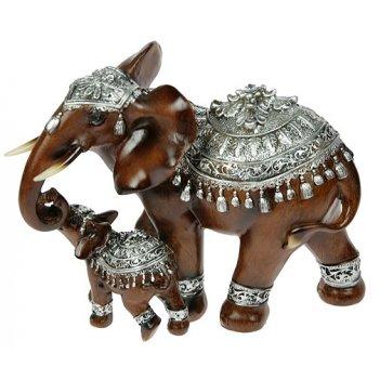 Фигурка декоративная африканский слон 23*12*16см
