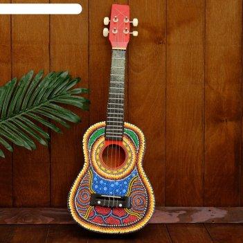 Музыкальный инструмент гитара-укулеле 55х20х6 см