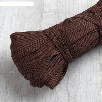Резинка эластичная, 10 мм, 10 ± 1 м, цвет коричневый