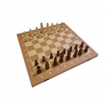 Шахматы, нарды, шашки деревянные 3 в 1 (поле 39 см) фигуры из дерева