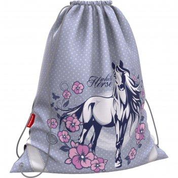 Мешок для обуви 365x440 мм erich krause white horse, увеличенные габариты,