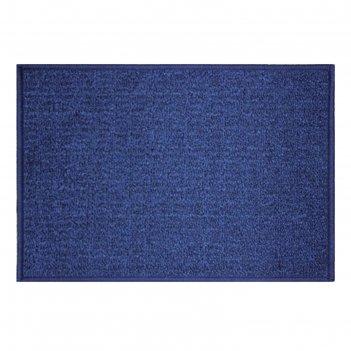 Коврик придверный детройт, полипропилен, 80х120 см, синий