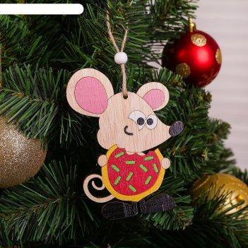 Подвеска новогодняя «мышка кушает»