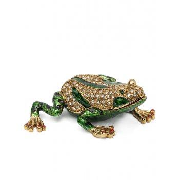 Шкатулка лягушка s-4148 зеленый