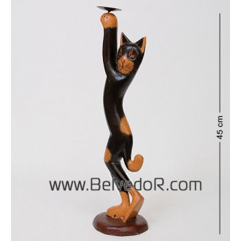 28-037 статуэтка кот черный