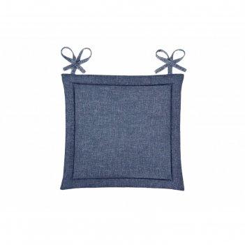 Подушка на стул, размер 40 x 40 см, рогожка, цвет индиго
