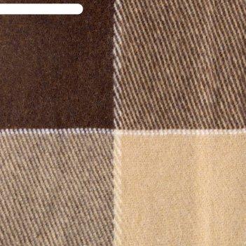 Плед шерстянной эльф 140х200 см, бел/беж/тер рап 1.3, 100% новозеландская