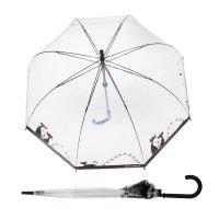 Зонт-трость женский кошачий рай, r=41см