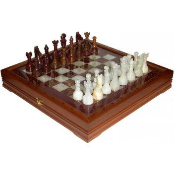 Rtg-9602 шахматы из камня изысканные (высота короля 3,50) 41х41см