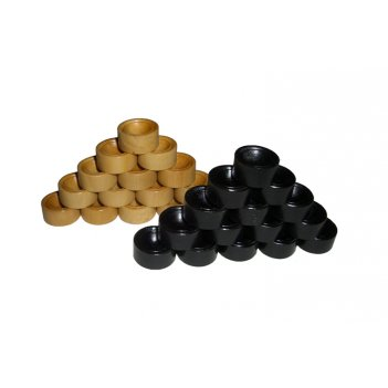 Rtu-19.3 комплект фишек для игры в дорожные нарды (эбен/самшит)