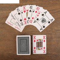 Карты для покера texas holdem black, пластик черная рубашка