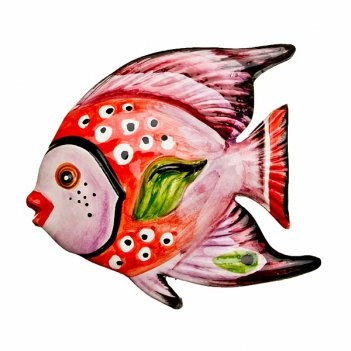 Панно настенное рыба 16*15 см.