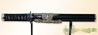 Танто самурайский меч в зеленых ножнах