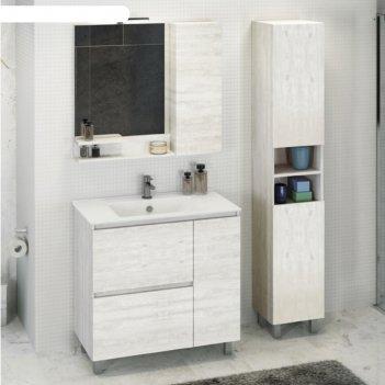 Шкаф-колонна comforty «верона-35-н» дуб белый