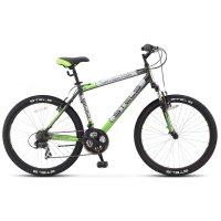Велосипед 26 stels navigator-600 v, v030, цвет чёрный/зелёный, размер 18