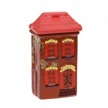 Банка для сыпучих продуктов дом малая, с росписью 0,75л