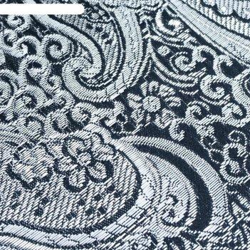 Ткань костюмная, парча, жаккард, ширина 140 см, цвет чёрный