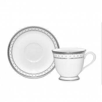Пара кофейная, объем: 90 мл, материал: фарфор, цвет: белый, серия рочестер
