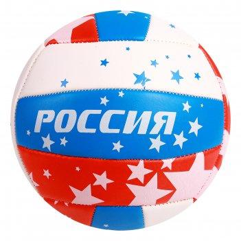 Мяч волейбольный minsa v16 р.5 18 панелей, pvc, 2 под. слоя, машин. сшивка