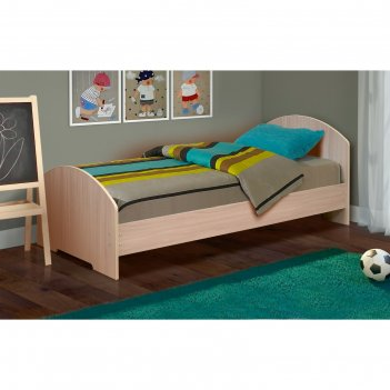 Кровать на уголках №2, 900 x 1900 мм, 1942 x 970 x 810 мм, цвет дуб молочн