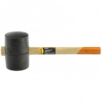 Киянка резиновая, 1130 г, черная резина, деревянная рукоятка sparta