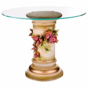 Журнальный столик гранаты диаметр=65 см. высота=50 см.