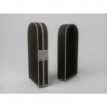 Чехол двойной для одежды большой «классик чёрный», 60х130х20 см