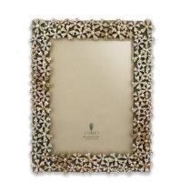 Рамка для фото, размер фото: 13 х 18 см, материал: латунь, стекло, кожа, к