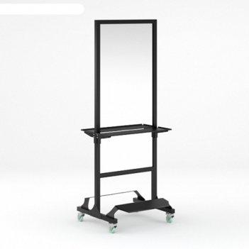 Мобильное парикмахерское зеркало modus, с двумя подножками, цвет чёрный