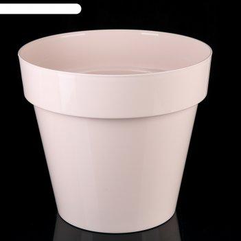 Кашпо со вставкой 15 л порто, цвет жемчуг