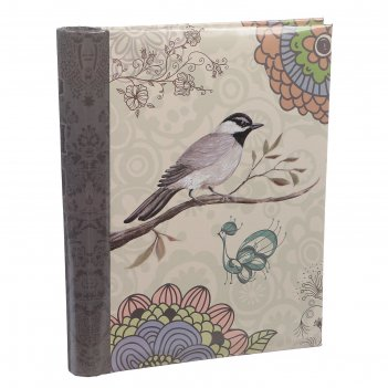 Фотоальбом магнитный 20 листов птица на ветке. мандала 25,5х20х2,8 см