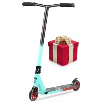 Самокат трюковый vokul bzit k1 pro scooter (неон/черный)