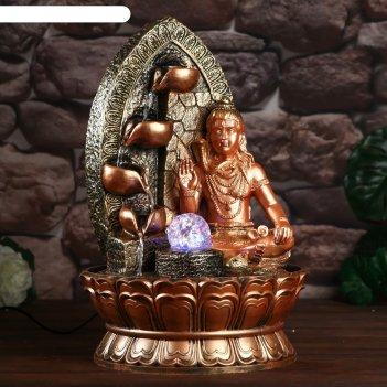 Фонтан настольный от сети, подсветка шива - бог-творец 40х28х28 см