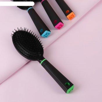 Расчёска массажная, цвет микс/чёрный