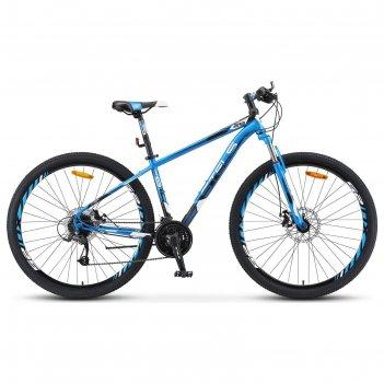 Велосипед 29 stels navigator-910 md, v010, цвет синий/черный, размер 18,5