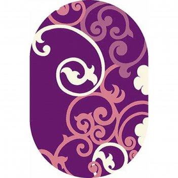 Ковёр карвинг фризе vision deluxe v805, 2*5 м, овал, violet