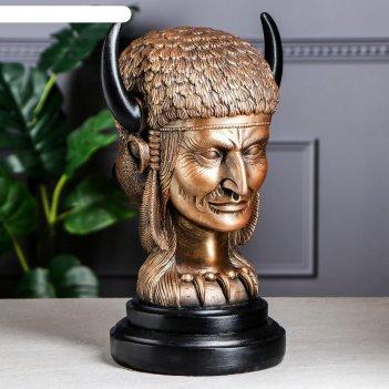 Сувенир шаман коричнево-золотой, 40 см