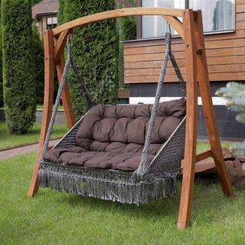 Садовые качели подвесные lite форталеза на каркасе, садовая мебель