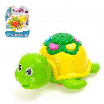 Игрушка озорная черепаха с проектором, подсветка, звук в кор, микс