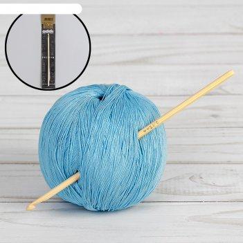 Крючок для вязания бамбуковый, d=3,75мм, 15см