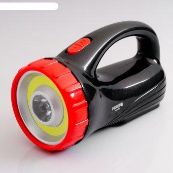 Фонарь-прожектор аккумуляторный светодиодный рекорд pв-3200, черный