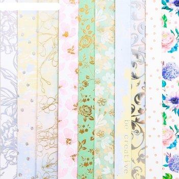 Набор бумаги для скрапбукинга «романтика», 10 листов, 20 x 20 см